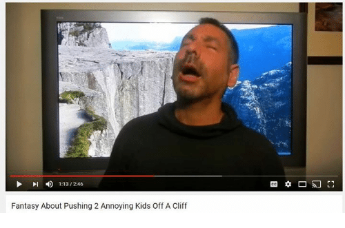 Annoying Kid: Fantasy About Pushing 2 Annoying Kids off A Cliff