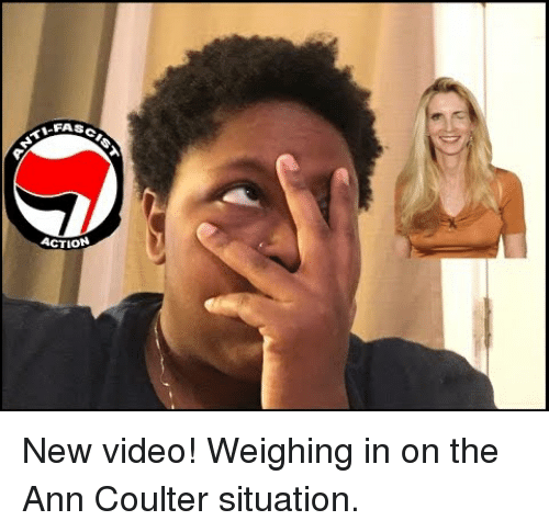 Coulter: FASCI <p>New video! Weighing in on the Ann Coulter situation.</p>