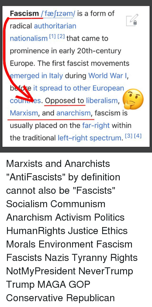 is fascism a form of nationalism Fascism is a form of government which is a type of one-party dictatorship fascists are against democracy  they work for a totalitarian one-party state  [1.