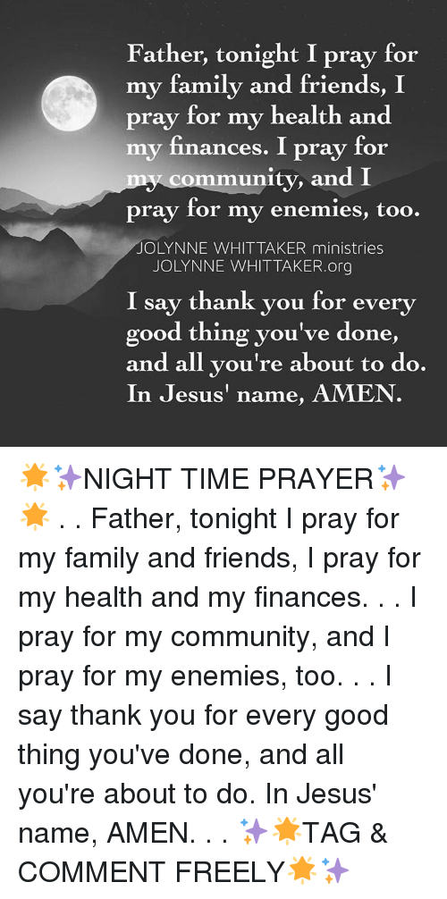 Community Finance And Memes Father Tonight I Pray For My Family