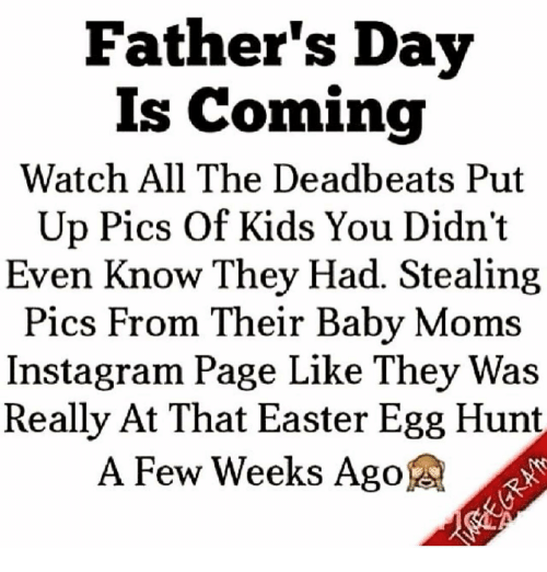 Father's Day Is Coming Watch All the Deadbeats Put Up Pics ...