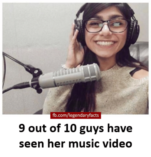 Memes, Music, and Music Video: fb.com/legendaryfacts  9 out of 10 guys have  seen her music video