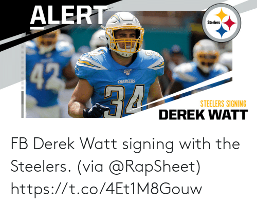 Signing: FB Derek Watt signing with the Steelers. (via @RapSheet) https://t.co/4Et1M8Gouw