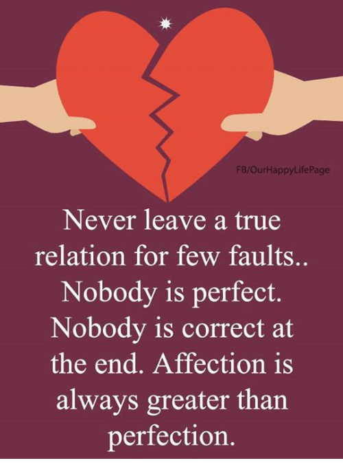 FBOurHappyLifePage Never Leave A True Relation For Few
