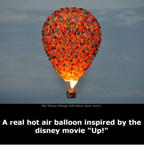 "hot air balloons: FB/These things will blow your mind  A real hot air balloon inspired by the  disney movie ""Up!"""