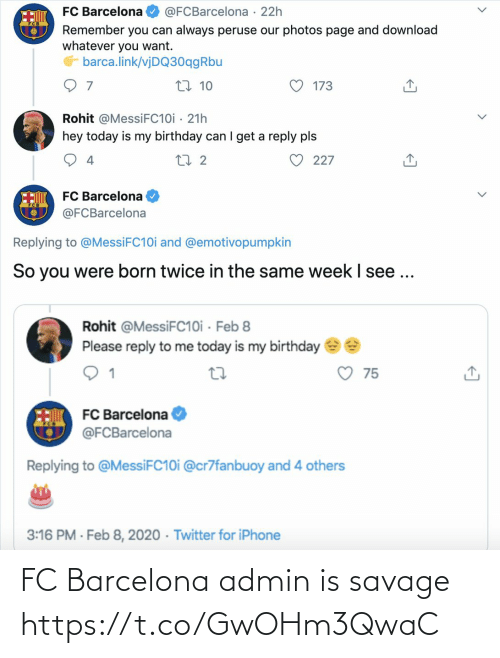 Barcelona: FC Barcelona admin is savage https://t.co/GwOHm3QwaC