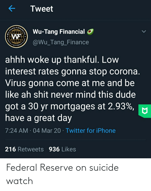 On Suicide Watch: Federal Reserve on suicide watch