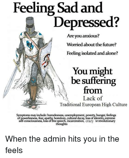 how to stop feeling sad and depressed