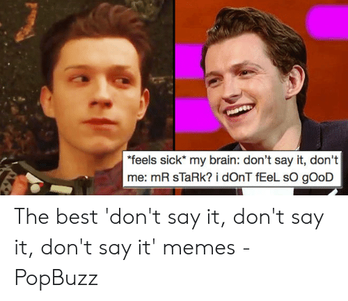 "Say What Meme: ""feels sick* my brain: don't say it, don't  me: mR sla The best 'don't say it, don't say it, don't say it' memes - PopBuzz"