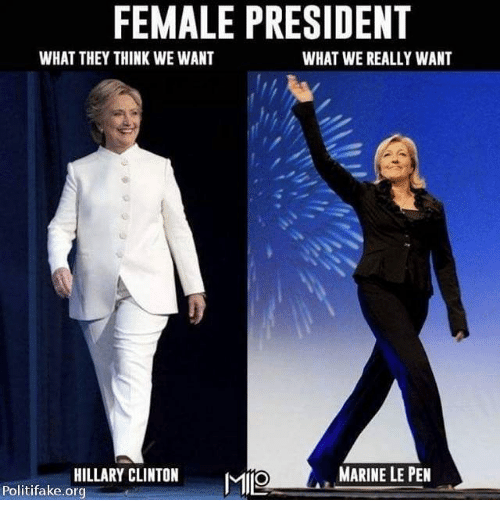 Female President What They Think We Want What We Really