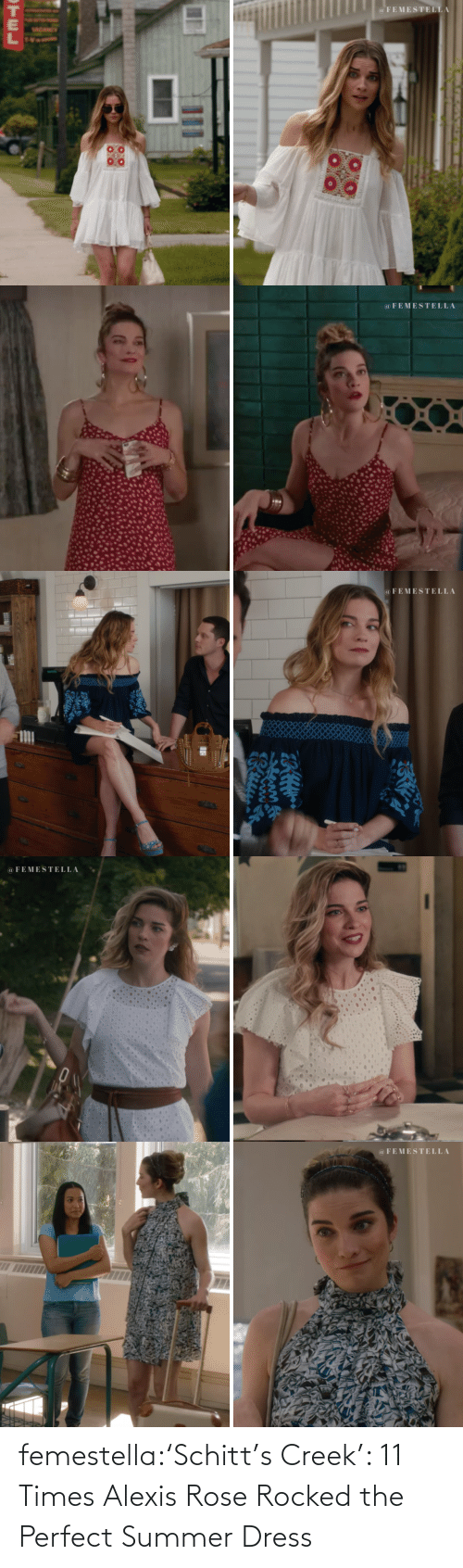 Rose: femestella:'Schitt's Creek': 11 Times Alexis Rose Rocked the Perfect Summer Dress