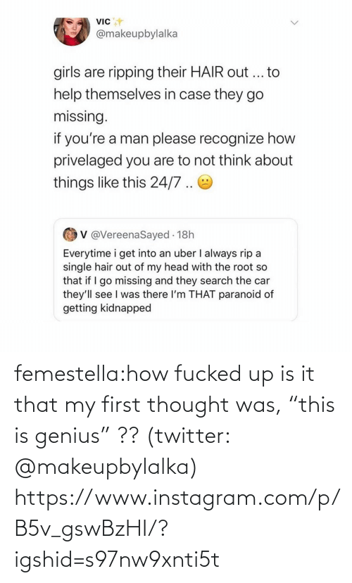 """Fucked: femestella:how fucked up is it that my first thought was, """"this is genius"""" ?? (twitter: @makeupbylalka) https://www.instagram.com/p/B5v_gswBzHI/?igshid=s97nw9xnti5t"""