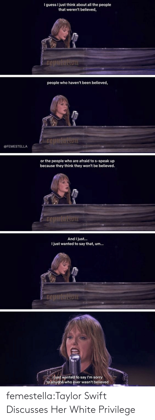 privilege: femestella:Taylor Swift Discusses Her White Privilege