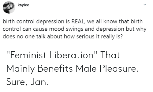 "Sure Jan: ""Feminist Liberation"" That Mainly Benefits Male Pleasure. Sure, Jan."