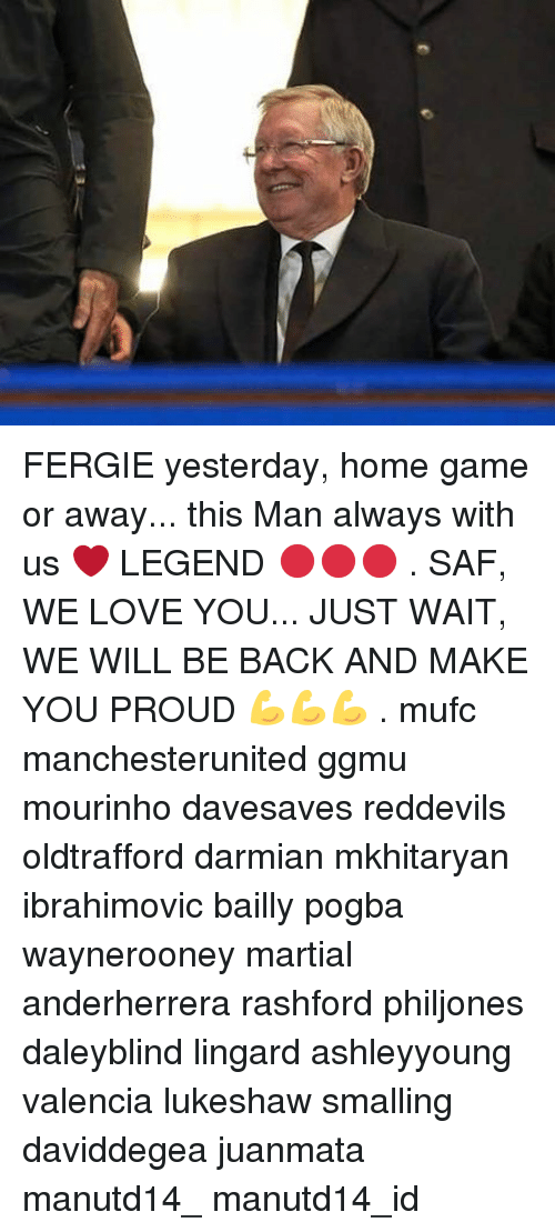 saf: FERGIE yesterday, home game or away... this Man always with us ❤ LEGEND 🔴🔴🔴 . SAF, WE LOVE YOU... JUST WAIT, WE WILL BE BACK AND MAKE YOU PROUD 💪💪💪 . mufc manchesterunited ggmu mourinho davesaves reddevils oldtrafford darmian mkhitaryan ibrahimovic bailly pogba waynerooney martial anderherrera rashford philjones daleyblind lingard ashleyyoung valencia lukeshaw smalling daviddegea juanmata manutd14_ manutd14_id
