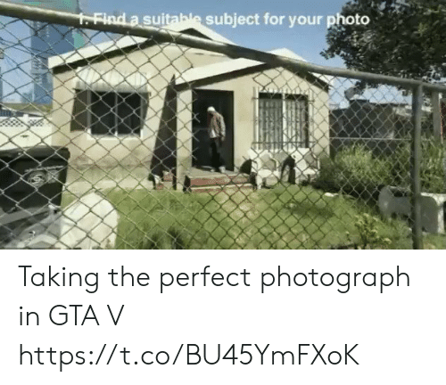 Photograph: FFind a suitable subject for your photo Taking the perfect photograph in GTA V https://t.co/BU45YmFXoK