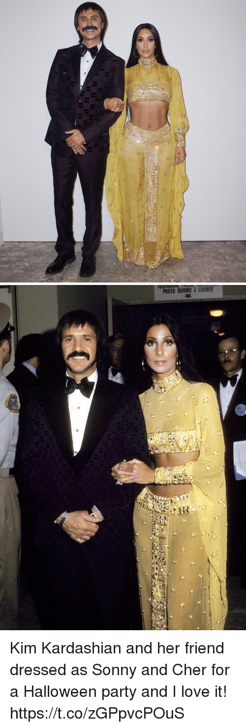 sonny: FHr   PHOTO ROOMS&LOUNGE Kim Kardashian and her friend dressed as Sonny and Cher for a Halloween party and I love it! https://t.co/zGPpvcPOuS