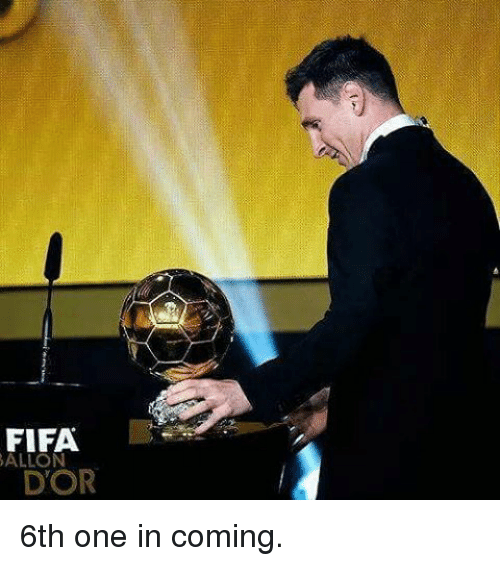 in coming: FIFA.  D'OR 6th one in coming.