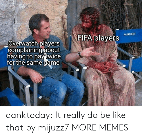 fifa: FIFA players  PANALIGHT  Overwatch players  complaining about  having to pay twice  for the same game danktoday:  It really do be like that by mijuzz7 MORE MEMES