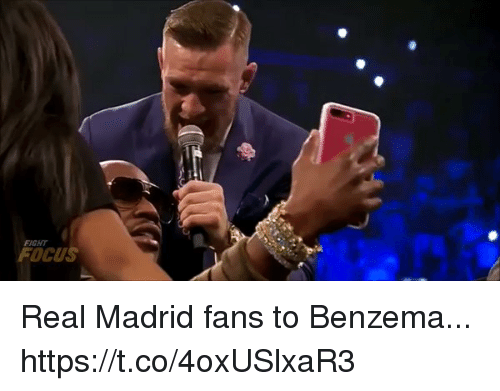 Real Madrid, Soccer, and Focus: FIGHT  FOCUS Real Madrid fans to Benzema... https://t.co/4oxUSlxaR3
