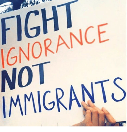 Memes, Ignorance, and Fight: FIGHT  IGNORANCE  NOT  IMMIGRANTS