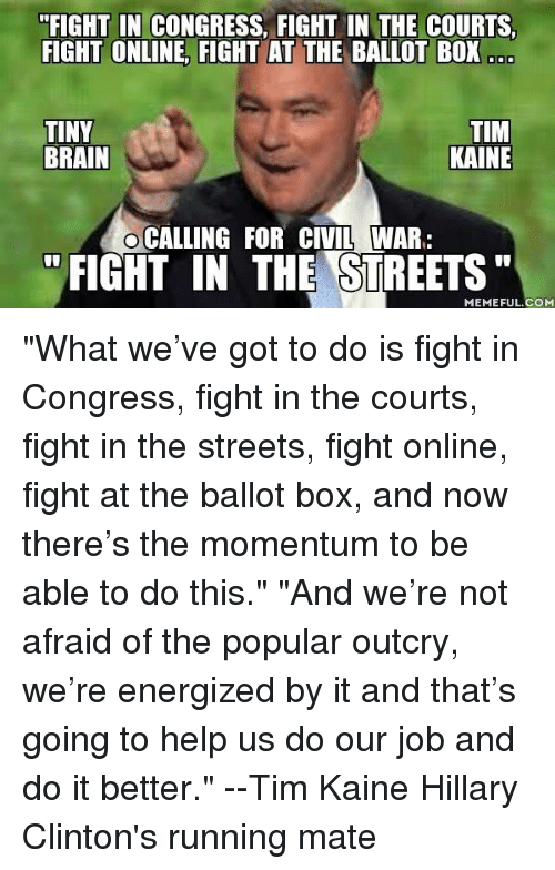 In Streets The Kaine Tim Fight