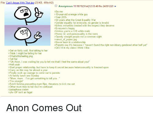 image Anon turns out to be a regular