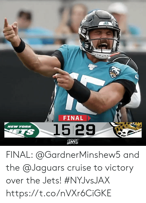 ets: FINAL  1529  NEW YOR  ETS FINAL: @GardnerMinshew5 and the @Jaguars cruise to victory over the Jets! #NYJvsJAX https://t.co/nVXr6CiGKE
