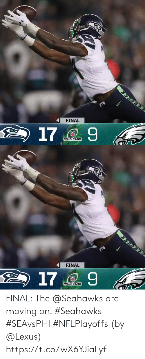 lexus: FINAL  2 17 2 9  NFL  WILD CARD   FINAL  2 17 2 9  NFL  WILD CARD FINAL: The @Seahawks are moving on! #Seahawks #SEAvsPHI #NFLPlayoffs  (by @Lexus) https://t.co/wX6YJiaLyf