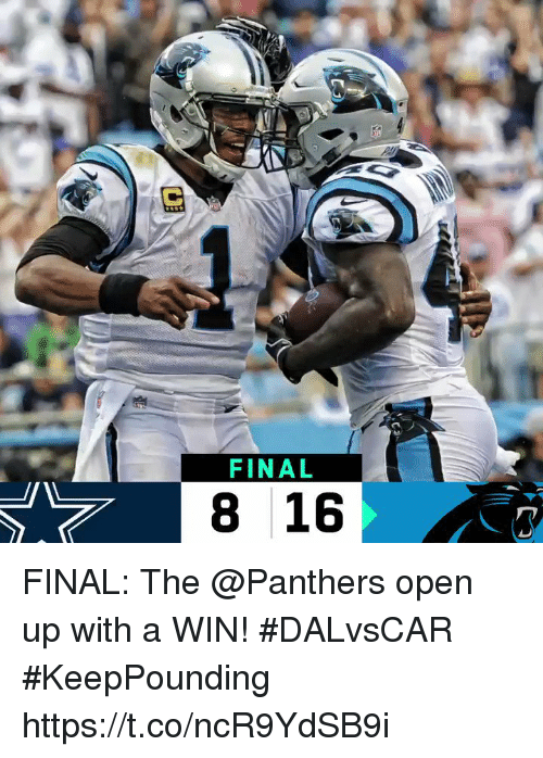 Memes, Panthers, and 🤖: FINAL  8 16 FINAL: The @Panthers open up with a WIN! #DALvsCAR  #KeepPounding https://t.co/ncR9YdSB9i