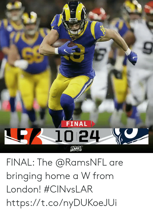 London: FINAL  E10 24 FINAL: The @RamsNFL are bringing home a W from London! #CINvsLAR https://t.co/nyDUKoeJUi