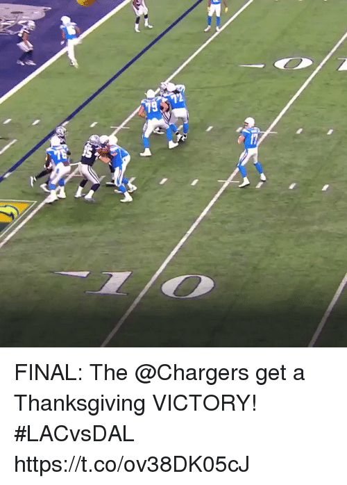 Memes, Thanksgiving, and Chargers: FINAL: The @Chargers get a Thanksgiving VICTORY!  #LACvsDAL https://t.co/ov38DK05cJ
