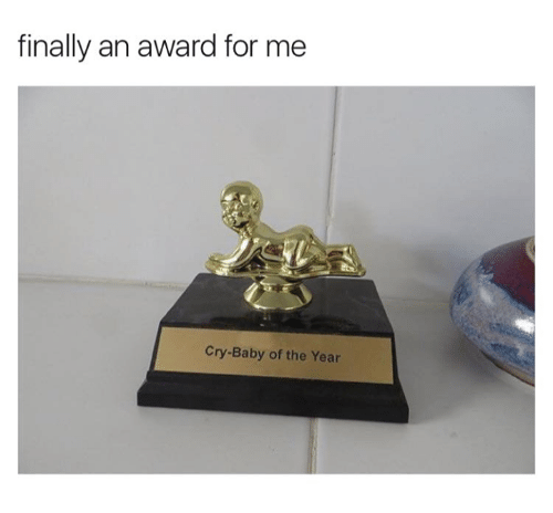 Memes, Cry-Baby, and Baby: finally an award for me  Cry-Baby of the Year
