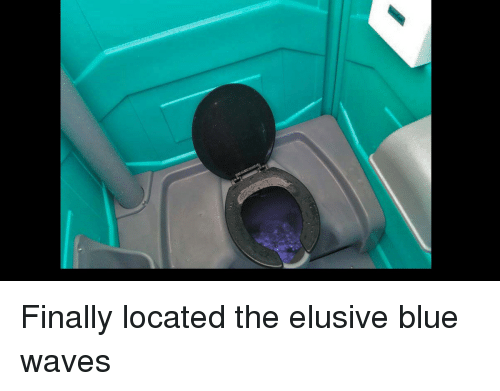 blue waves: Finally located the elusive blue waves