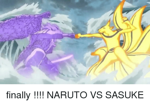 Naruto: finally !!!! NARUTO VS SASUKE