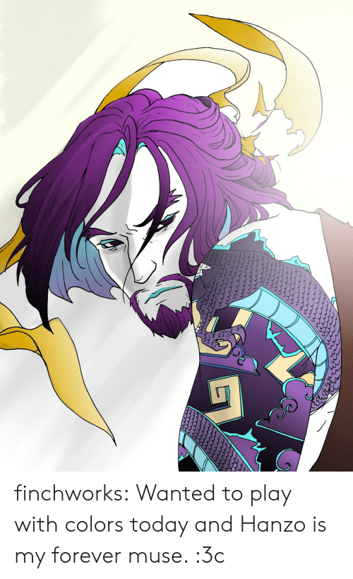 Hanzo: finchworks:  Wanted to play with colors today and Hanzo is my forever muse. :3c