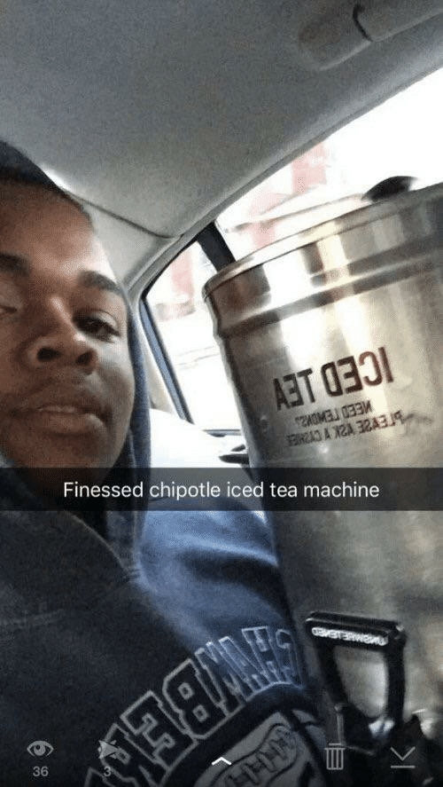 Chipotle: Finessed chipotle iced tea machine  36