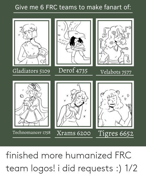 Logos: finished more humanized FRC team logos! i did requests :) 1/2