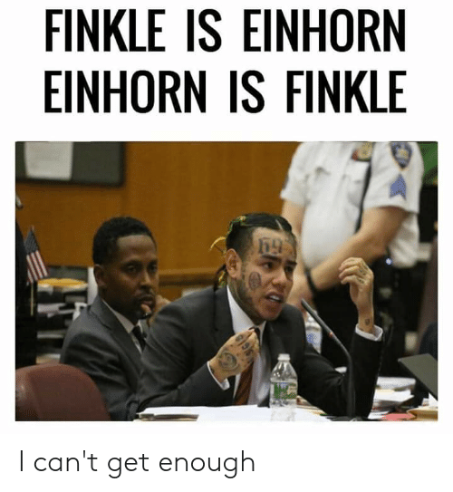 Einhorn Is Finkle: FINKLE IS EINHORN  EINHORN IS FINKLE I can't get enough