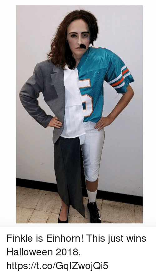 Finkle Is Einhorn: Finkle is Einhorn! This just wins Halloween 2018. https://t.co/GqIZwojQi5