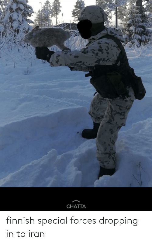 special forces: finnish special forces dropping in to iran