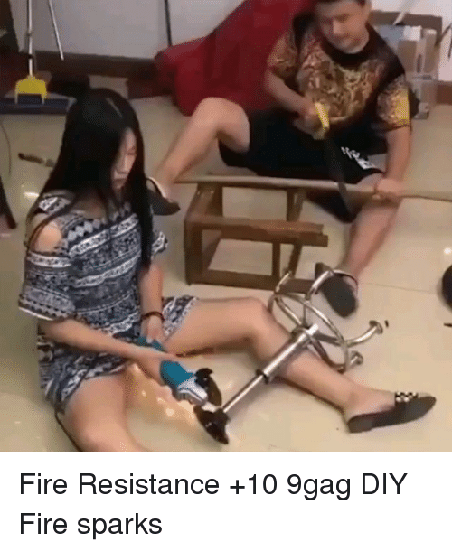9gag, Fire, and Memes: Fire Resistance +10 9gag DIY Fire sparks