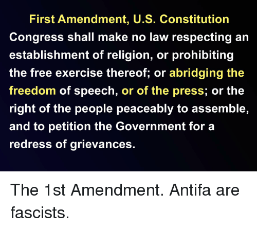 1st abd 2nd adement to the u.s constitution: the freedom essay Read this american history essay and over 88,000 other research documents us constitution: first amendment us constitution: first amendment congress shall make no law respecting an.