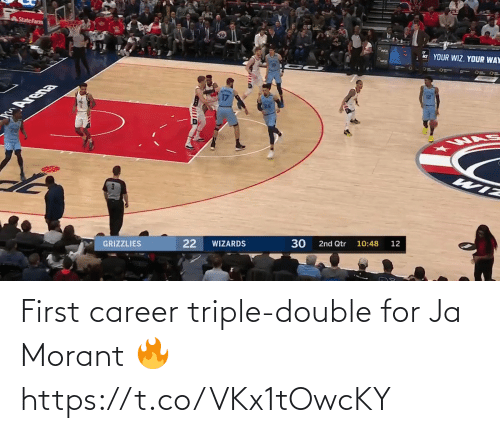 triple double: First career triple-double for Ja Morant 🔥 https://t.co/VKx1tOwcKY