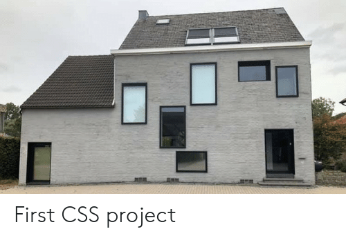 css: First CSS project