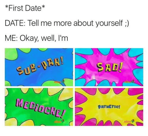 Dating tell me about yourself