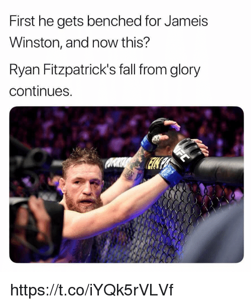 jameis: First he gets benched for Jameis  Winston, and now this?  Ryan Fitzpatrick's fall from glory  continues https://t.co/iYQk5rVLVf