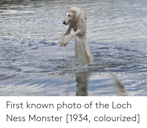 The Loch: First known photo of the Loch Ness Monster [1934, colourized]