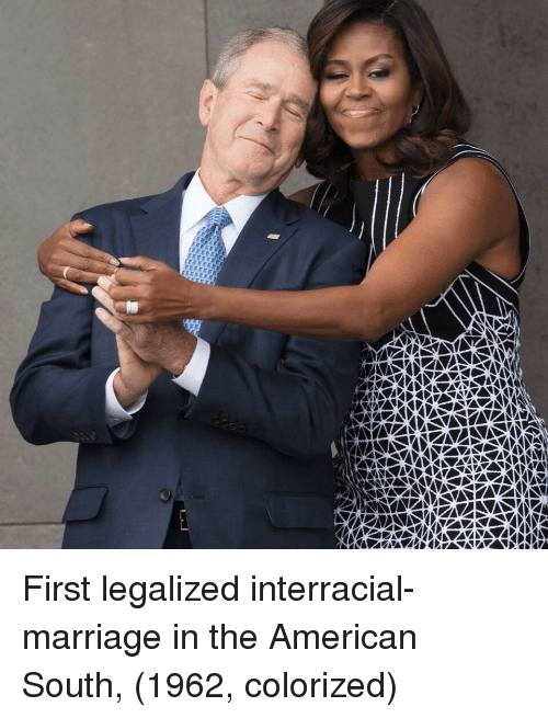 Interracial: First legalized interracial-marriage in the American South, (1962, colorized)
