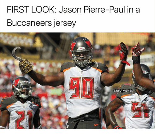 FIRST LOOK Jason Pierre-Paul In A Buccaneers Jersey NFL